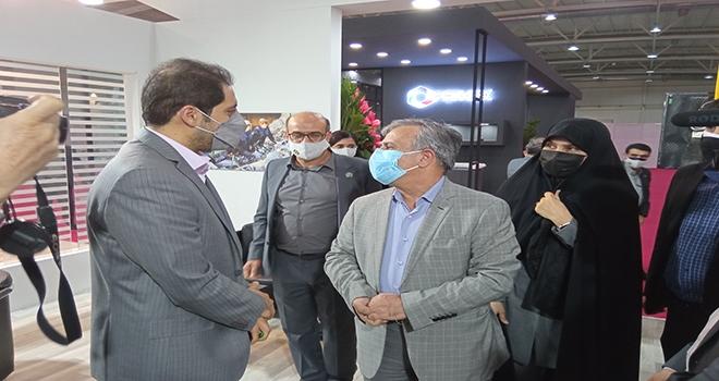 حضور مدیران عامل تاپیکو و تاسیکو در غرفه شرکت محصولات کاغذی لطیف